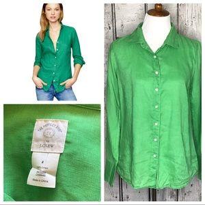 J Crew Perfect linen shirt